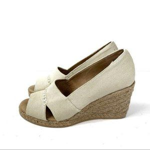 G.H. Bass & Co. Andi Canvas Wedges Size 10